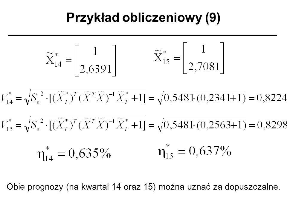 Przykład obliczeniowy (9)