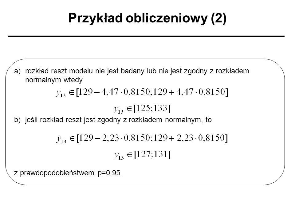 Przykład obliczeniowy (2)