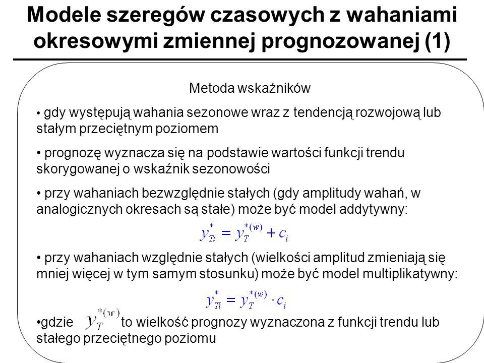 Modele szeregów czasowych z wahaniami okresowymi zmiennej prognozowanej (1)