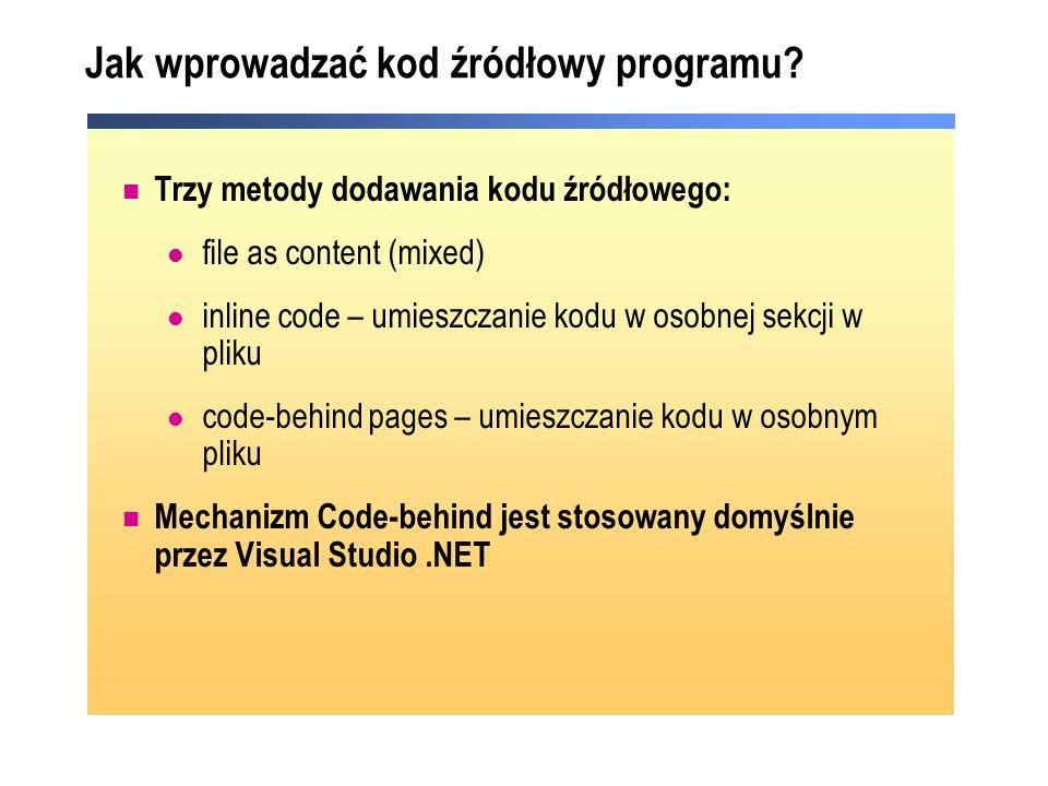 Jak wprowadzać kod źródłowy programu