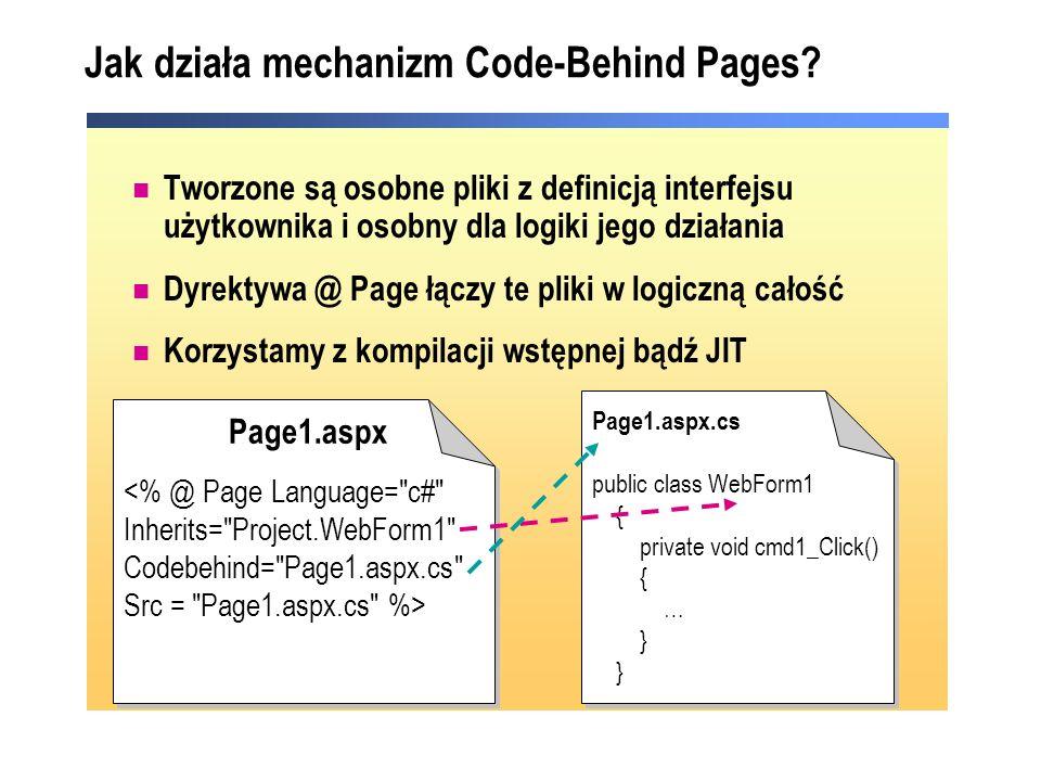 Jak działa mechanizm Code-Behind Pages