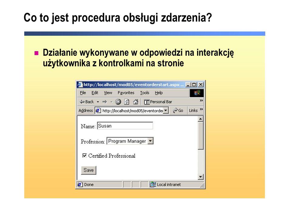 Co to jest procedura obsługi zdarzenia