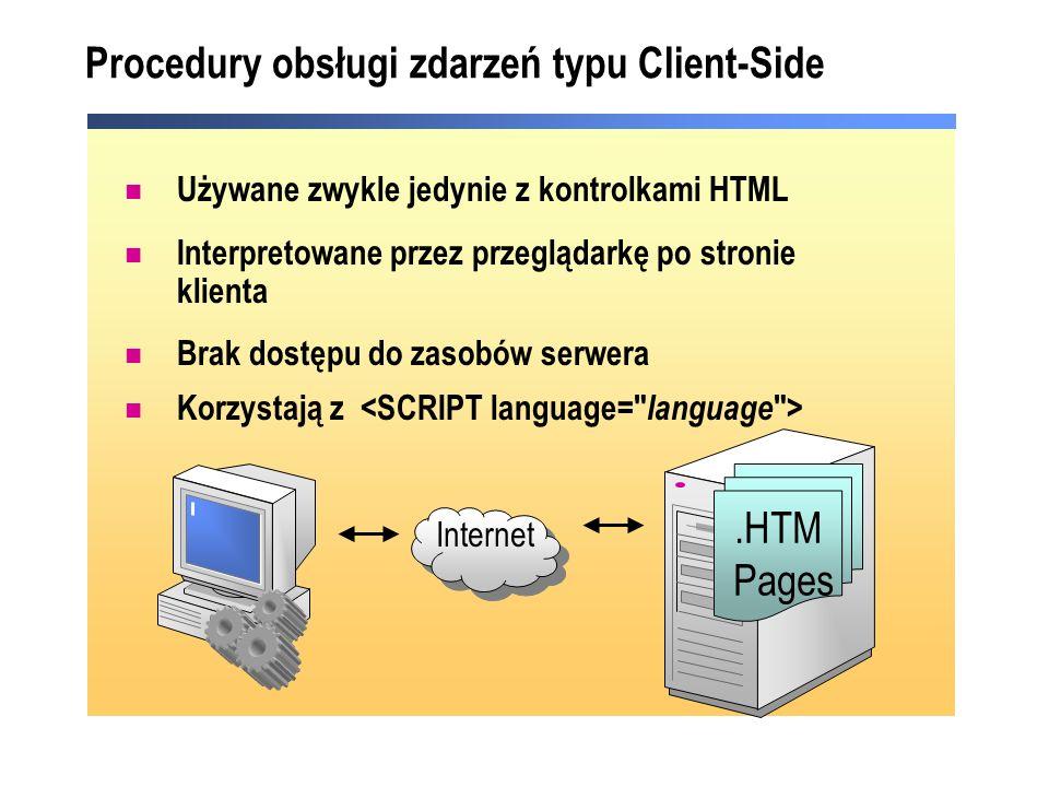 Procedury obsługi zdarzeń typu Client-Side