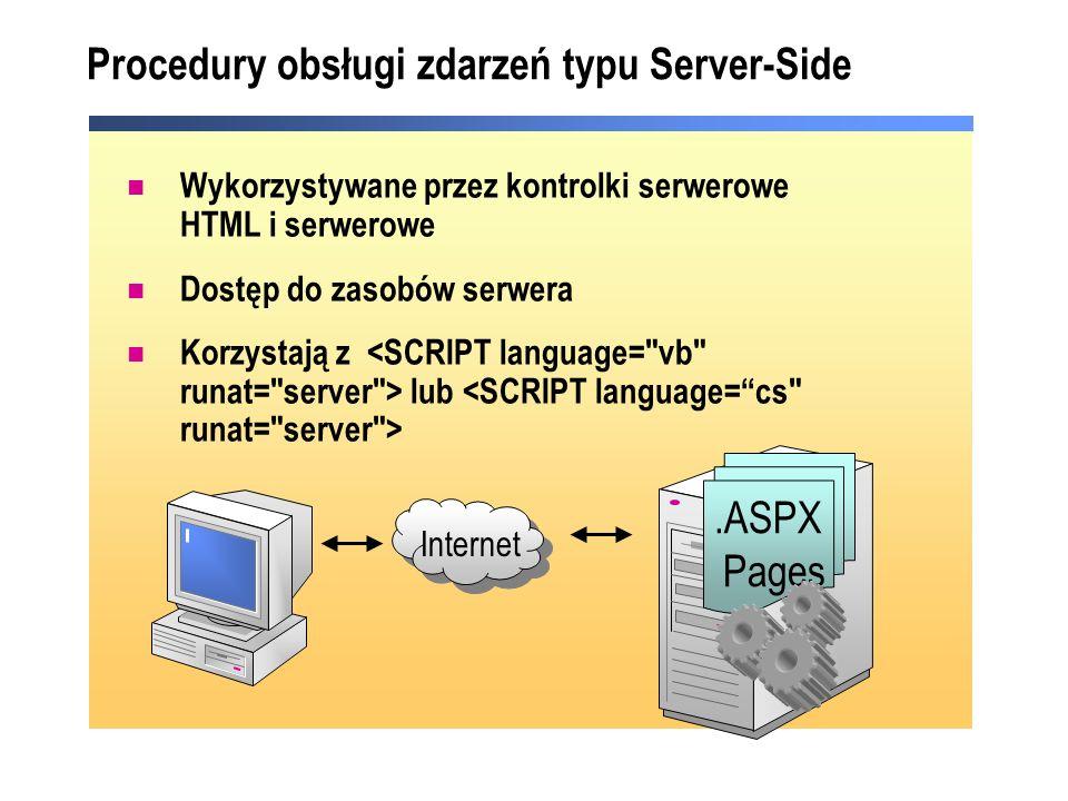 Procedury obsługi zdarzeń typu Server-Side