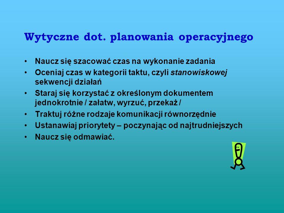 Wytyczne dot. planowania operacyjnego