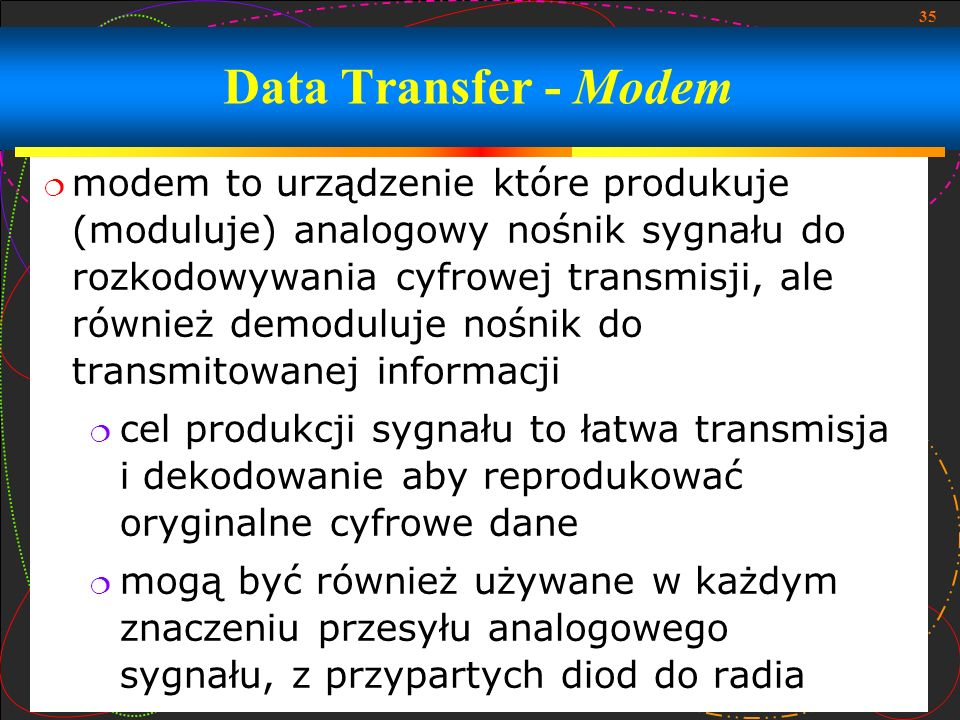 Data Transfer - Modem