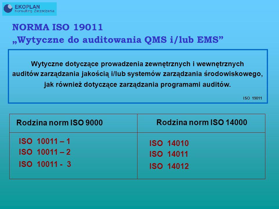 """""""Wytyczne do auditowania QMS i/lub EMS"""