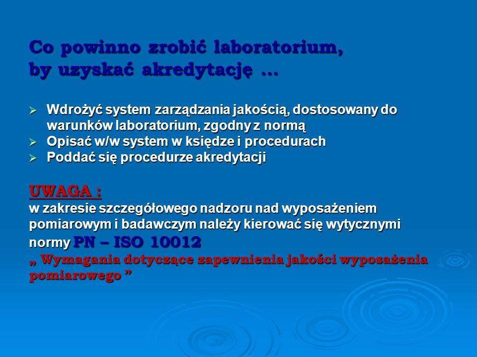 Co powinno zrobić laboratorium, by uzyskać akredytację …