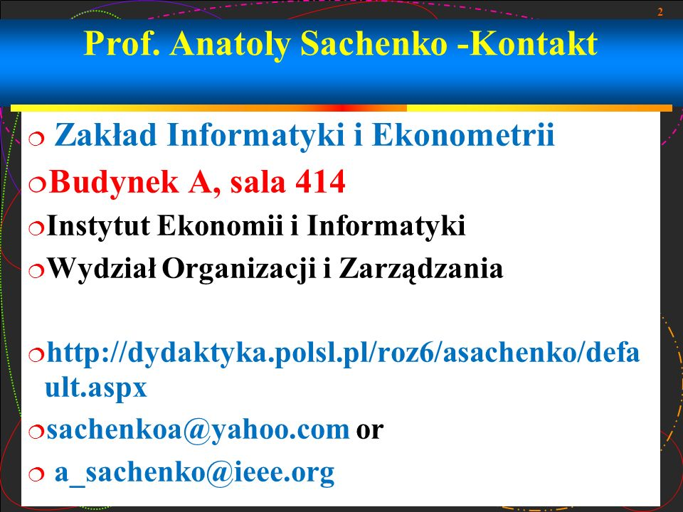 Prof. Anatoly Sachenko -Kontakt