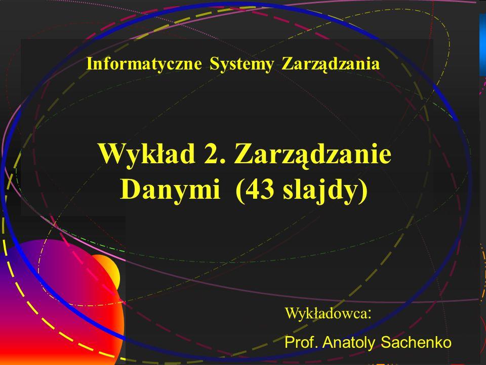 Wykład 2. Zarządzanie Danymi (43 slajdy)