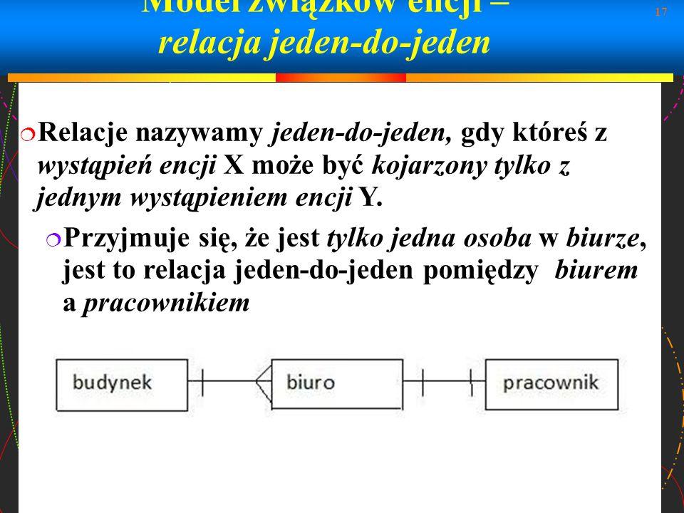 Model związków encji – relacja jeden-do-jeden