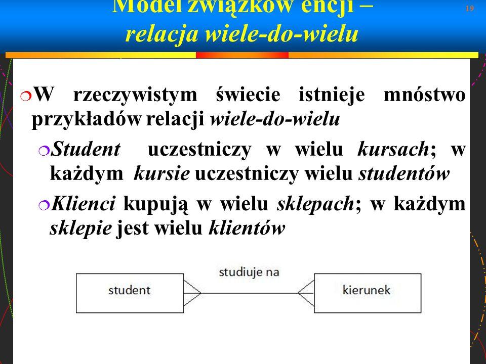 Model związków encji – relacja wiele-do-wielu