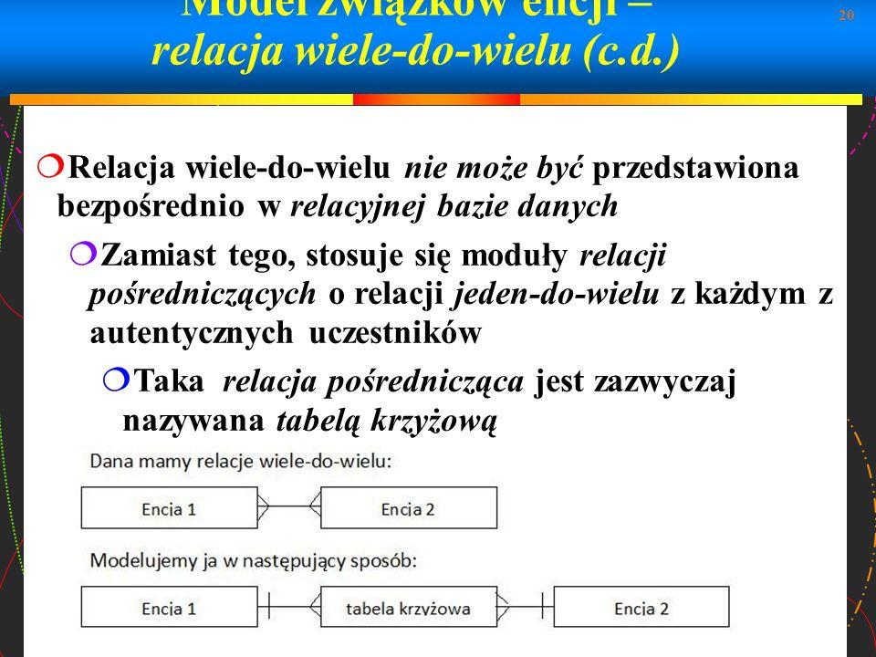 Model związków encji – relacja wiele-do-wielu (c.d.)