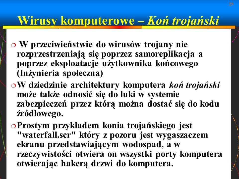 Wirusy komputerowe – Koń trojański