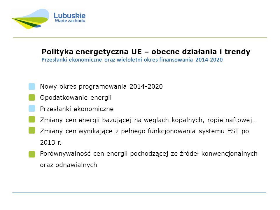 Polityka energetyczna UE – obecne działania i trendy
