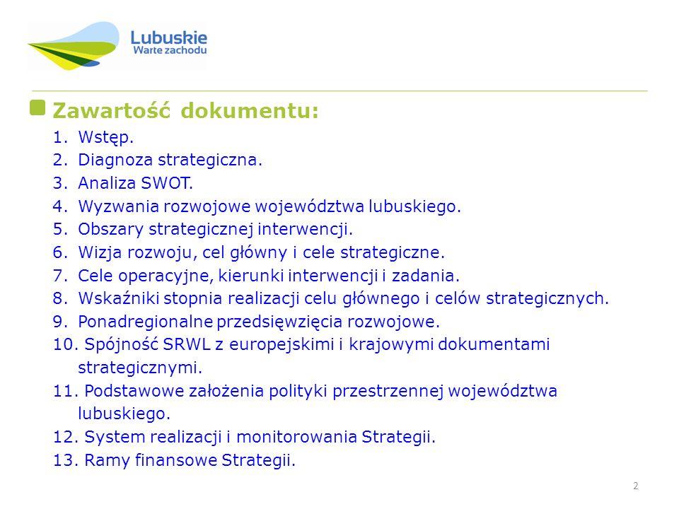 Zawartość dokumentu: Wstęp. Diagnoza strategiczna. Analiza SWOT.