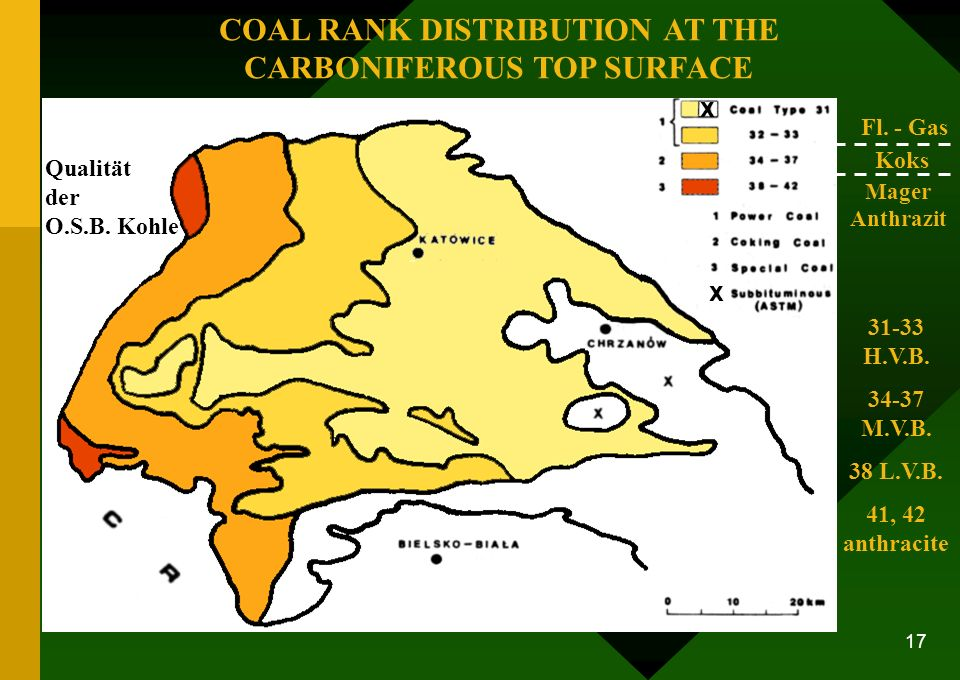 COAL RANK DISTRIBUTION AT THE CARBONIFEROUS TOP SURFACE