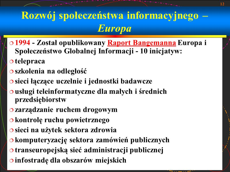 Rozwój społeczeństwa informacyjnego – Europa