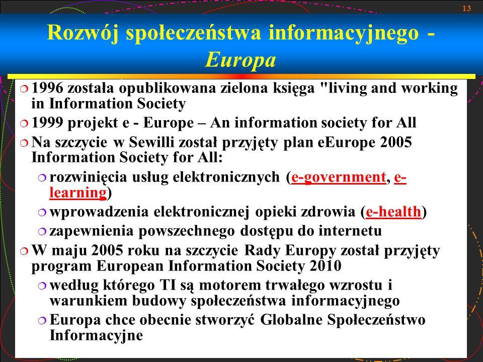 Rozwój społeczeństwa informacyjnego - Europa