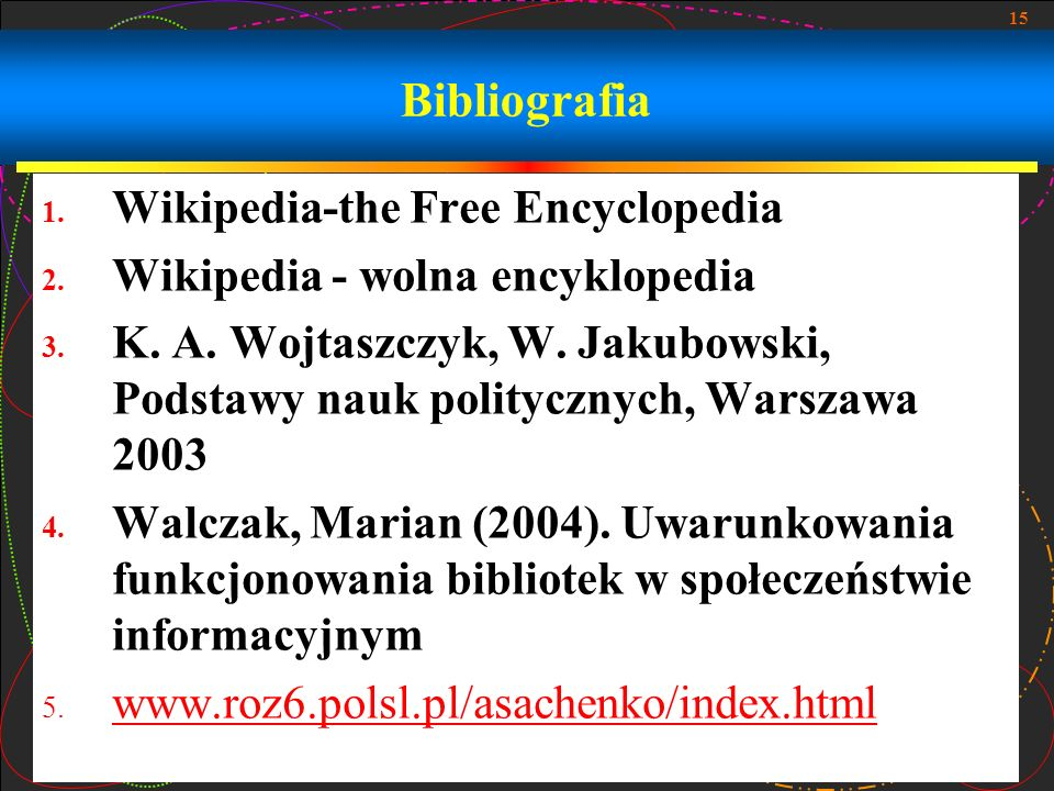 Bibliografia Wikipedia-the Free Encyclopedia