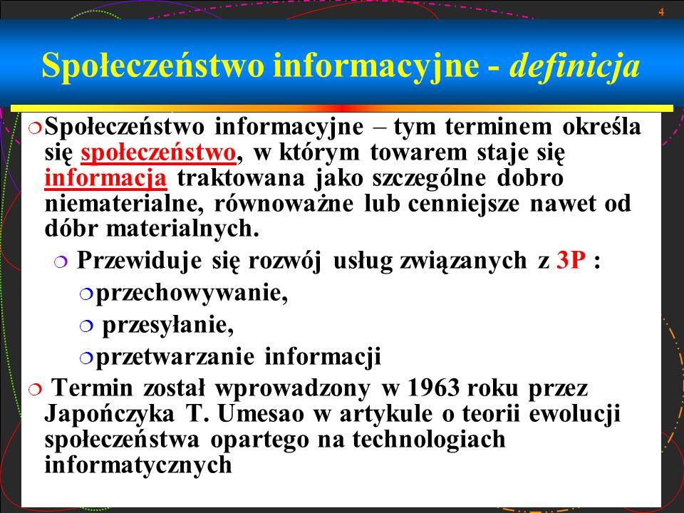 Społeczeństwo informacyjne - definicja