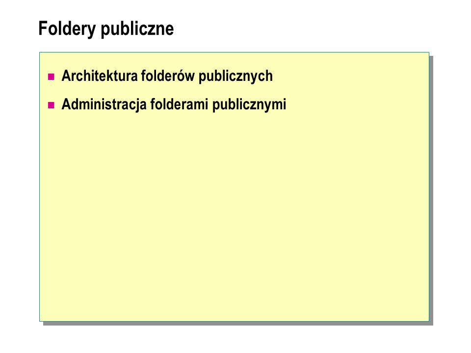 Foldery publiczne Architektura folderów publicznych