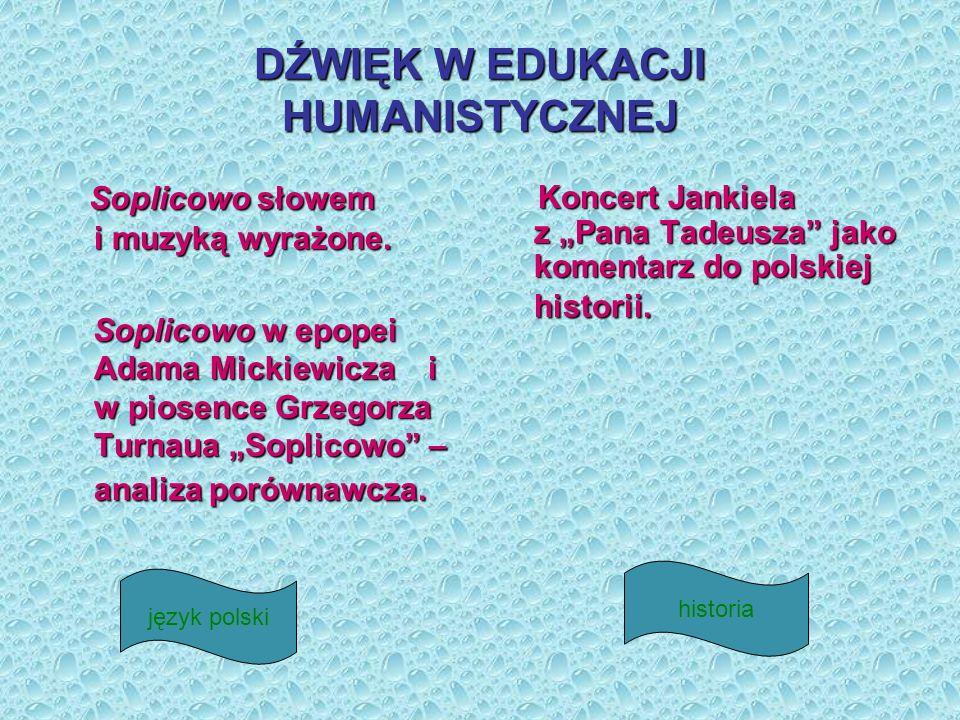 DŹWIĘK W EDUKACJI HUMANISTYCZNEJ