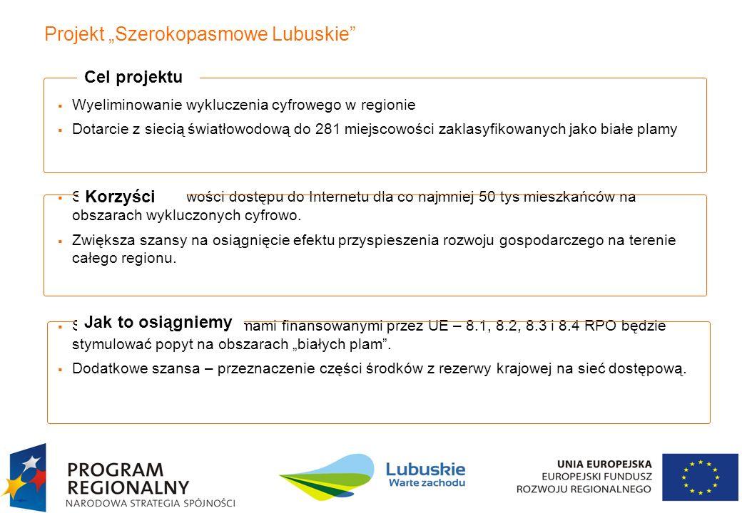 "Projekt ""Szerokopasmowe Lubuskie"
