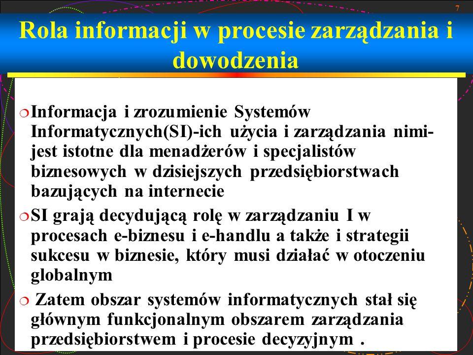 Rola informacji w procesie zarządzania i dowodzenia