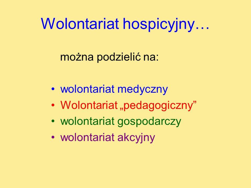 Wolontariat hospicyjny…