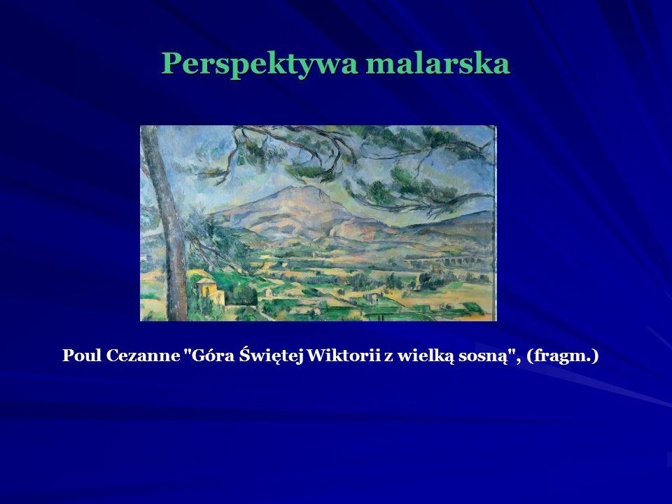 Perspektywa malarska Poul Cezanne Góra Świętej Wiktorii z wielką sosną , (fragm.)