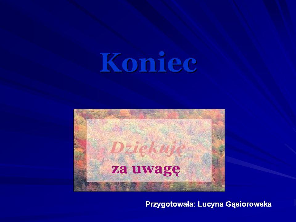 Koniec za uwagę Przygotowała: Lucyna Gąsiorowska