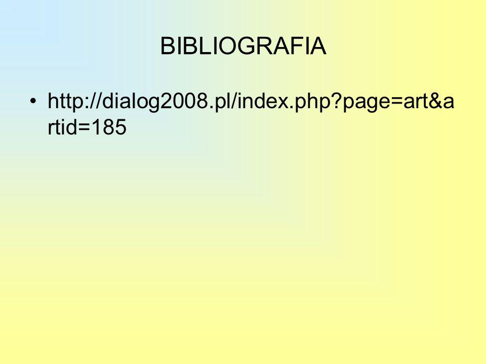 BIBLIOGRAFIA http://dialog2008.pl/index.php page=art&artid=185