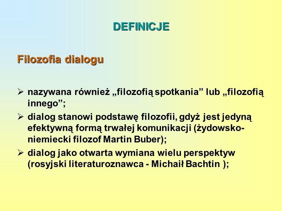 DEFINICJE Filozofia dialogu