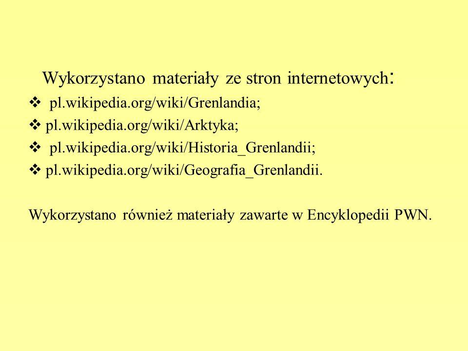 Wykorzystano materiały ze stron internetowych:
