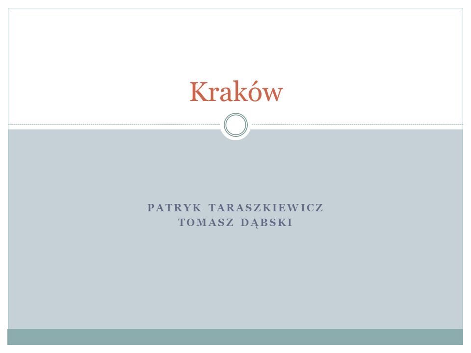 Patryk Taraszkiewicz Tomasz Dąbski