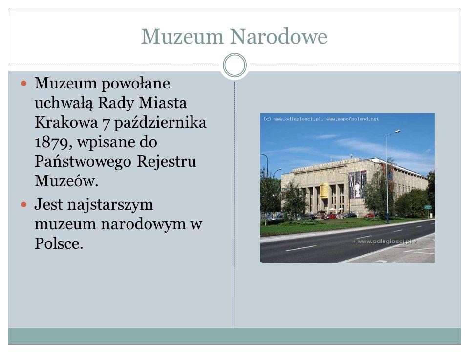 Muzeum Narodowe Muzeum powołane uchwałą Rady Miasta Krakowa 7 października 1879, wpisane do Państwowego Rejestru Muzeów.