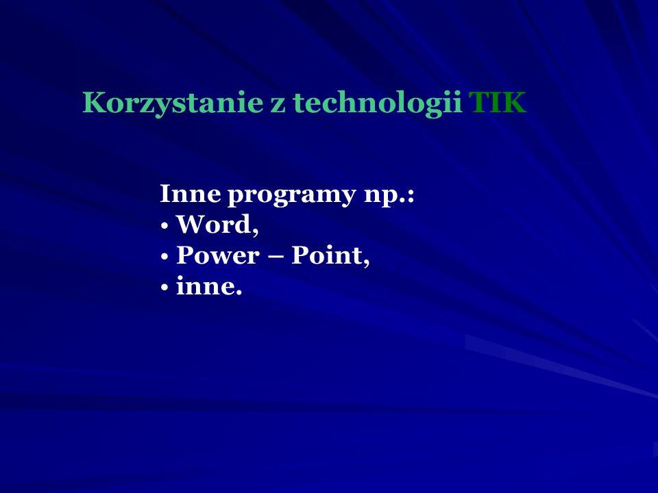 Korzystanie z technologii TIK