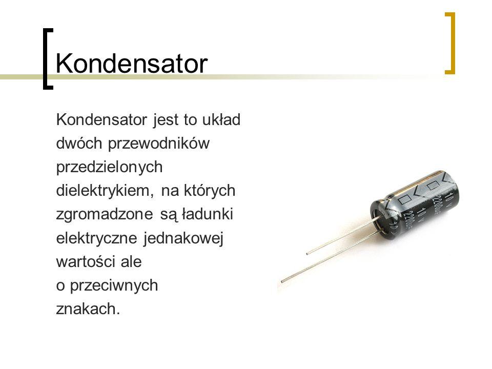 Kondensator Kondensator jest to układ dwóch przewodników