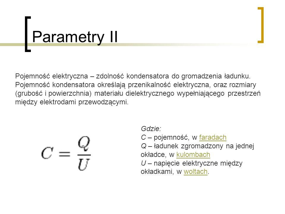 Parametry II