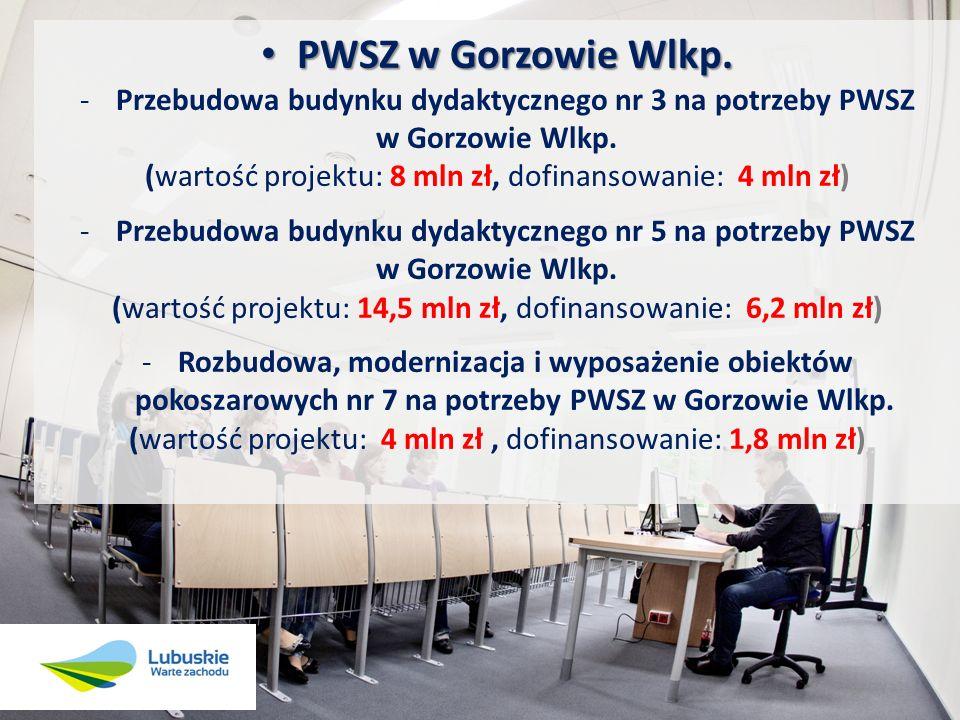 PWSZ w Gorzowie Wlkp. Przebudowa budynku dydaktycznego nr 3 na potrzeby PWSZ. w Gorzowie Wlkp.