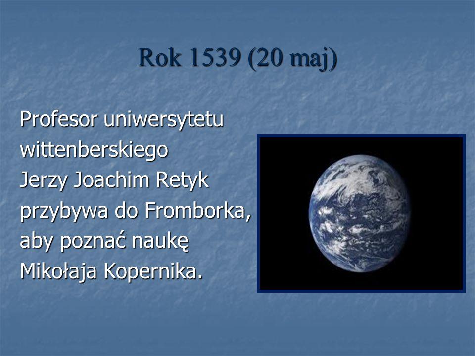 Rok 1539 (20 maj) Profesor uniwersytetu wittenberskiego