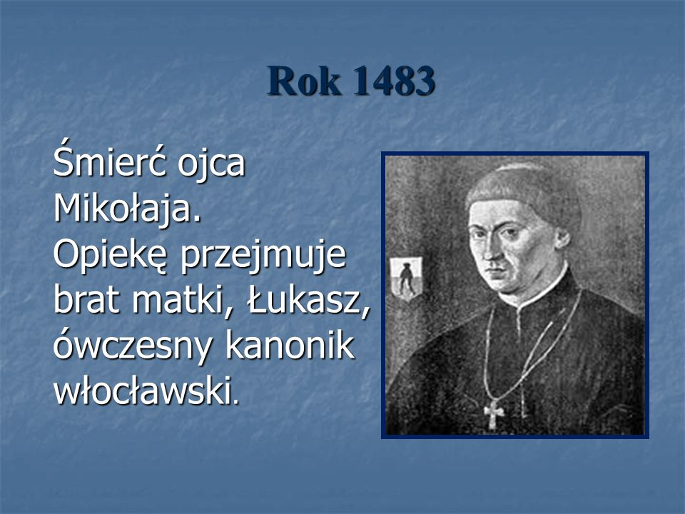 Rok 1483 Śmierć ojca Mikołaja.