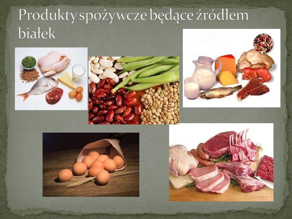 Produkty spożywcze będące źródłem białek