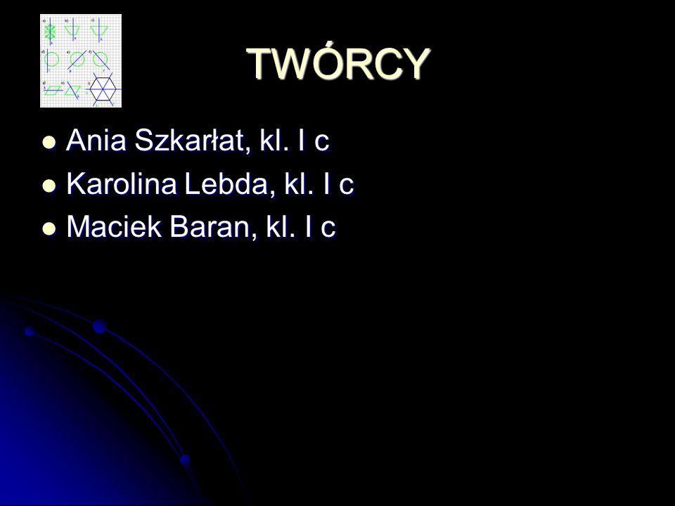 TWÓRCY Ania Szkarłat, kl. I c Karolina Lebda, kl. I c