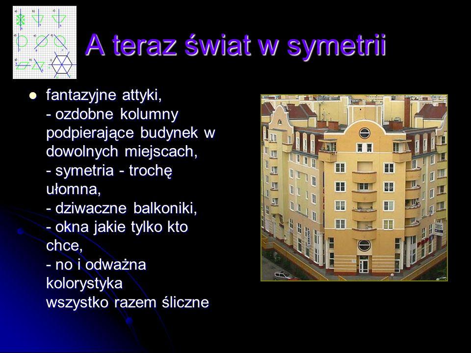 A teraz świat w symetrii