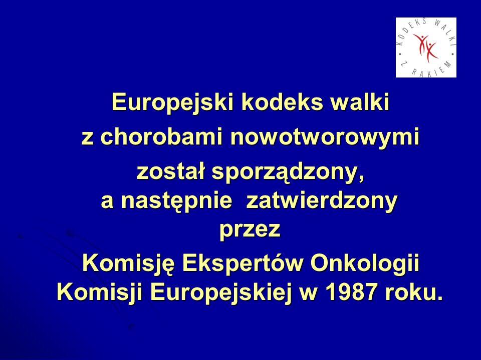 Europejski kodeks walki z chorobami nowotworowymi