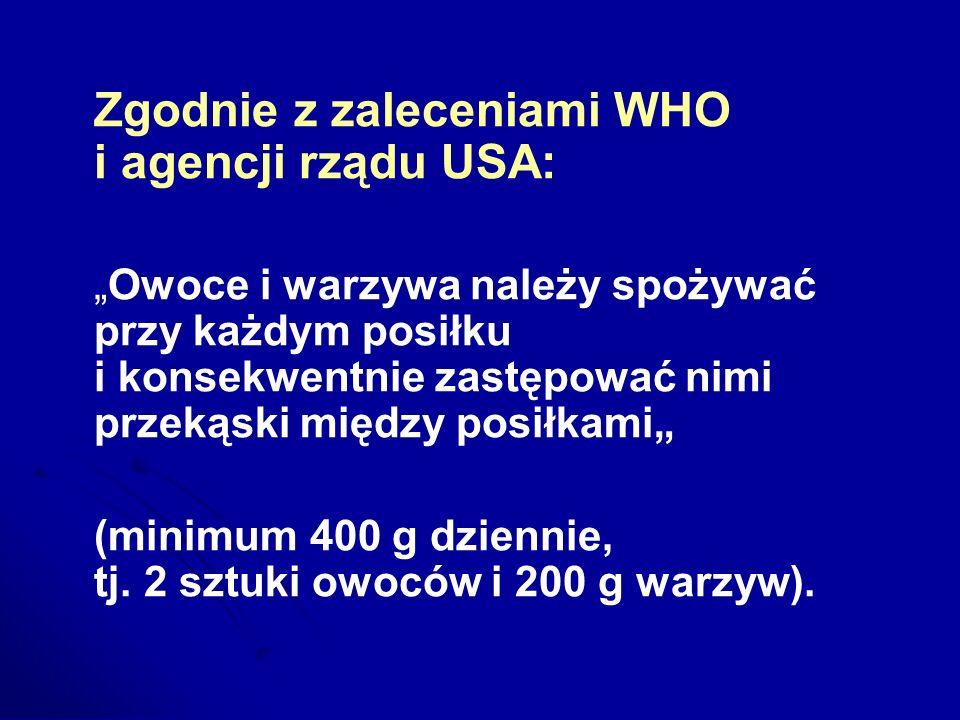 Zgodnie z zaleceniami WHO i agencji rządu USA:
