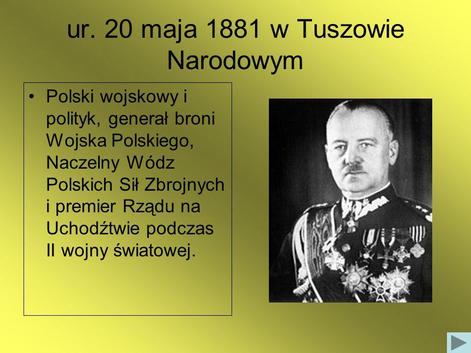 ur. 20 maja 1881 w Tuszowie Narodowym