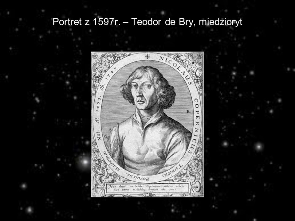 Portret z 1597r. – Teodor de Bry, miedzioryt